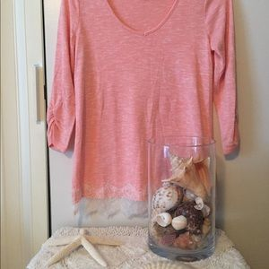 Red Camel small tunic light peach with lace border